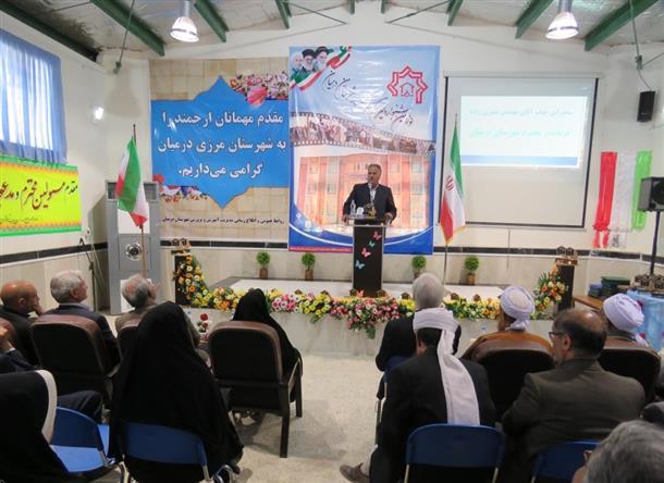 جشنواره خيرين مدرسه ساز شهرستان درميان برگزار شد